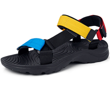 2020 New Fashion Non-slip Soft Men Sandals Shoes Summer Male Water Shoes Rubber Sandals Outdoor Mens Beach Shoes Flat Slippers