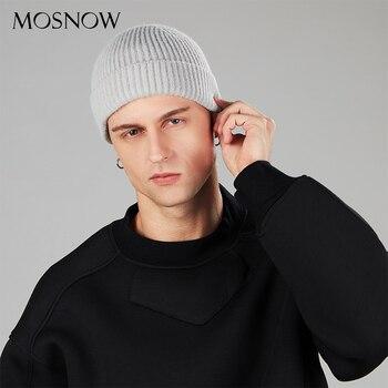 цена на Winter Hat For Men New Docker Cap Warm Knitted Beanie Men Skullcap Unisex Brimless Cap Solid Color Woman Beanie Male Hip Hop Hat