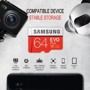 Image 5 - Carte mémoire Micro SD SAMSUNG EVO Plus 32 go 64 go 128 go 256 go SDHC/SDXC U3 C10 UHS I 4K HD TF carte pour Smartphone, tablette, etc.
