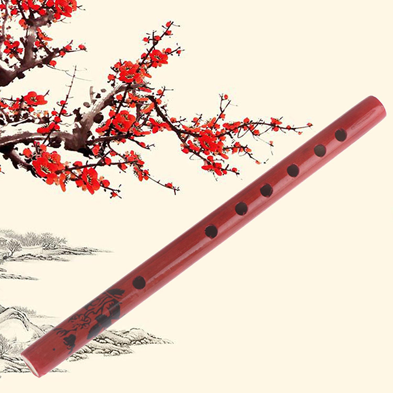 1PC Chinese Traditional 6 Holes Bamboo Flute Vertical Clarinet Student Musical Instrument Wooden Color For Kids Gift