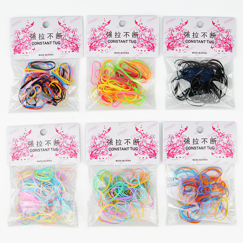 100Pcs Bag Colorful High Elasticity font b Pet b font Hair Rubber Band Dog Cat Hair