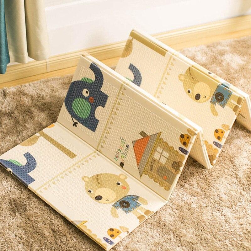 1PC bébé tapis de jeu pliable dessin animé infantile enfants tapis bébé jouets jeu tapis en mousse enfants tapis Puzzle tapis antidérapant produits