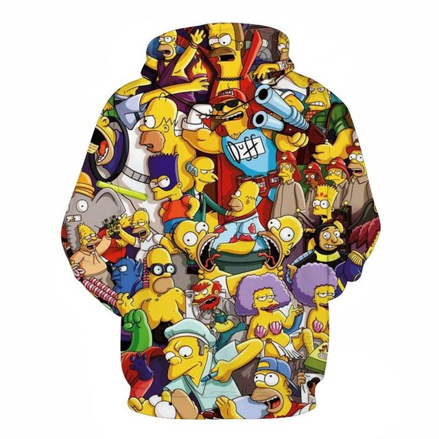 2019 new Simpson Printed 3D Men Women Hoodies 6XL Sweatshirts Quality Hooded Jacket Novelty Streetwear Fashion Casual Pullover 2