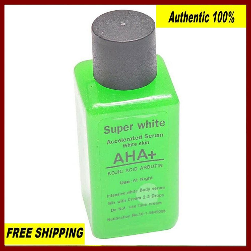 Good AHA +Kojic Arbutin Green Serum 30 Ml. Whitening Brightening Body Serum Free Ship