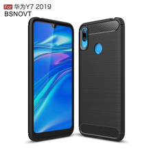 For Huawei Y7 2019 Case Soft TPU Silicone Anti-knock Bumper Cover Funda 6.26 BSNOVT