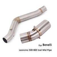 Für Benelli Leoncino 500 800 Trail Auspuffrohr Motorrad Mitte Link Rohr Löschen Reserve Catalyst Slip Auf 51 mm Schalldämpfer