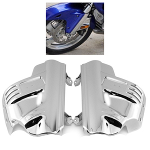 with airbag Front Suspension Shock Cover Side Fender Lower Fork Shield Fairing Guard for Honda GL Goldwing 1800 GL1800 2001-2011