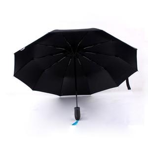 Image 5 - Volledig Automatische Opvouwbare Paraplu Zakelijke Gentleman Een Open Business Mannen Korte Handvat Paraplu Effen Kleur 10 Bone