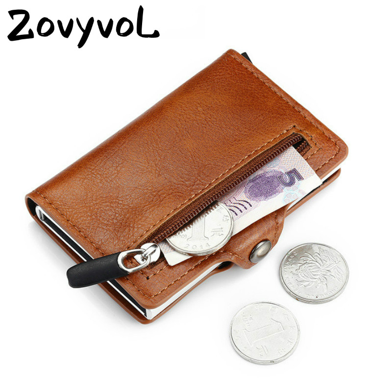 Многофункциональный Безопасный чехол для карт из искусственной кожи с отделением для монет и карт, короткий кошелек для карт для мужчин и ж...