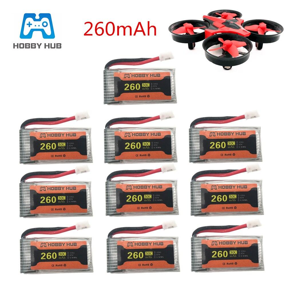 Bateria para jjrc h36 bateria 3.7v 260 mah para e010 e011 e012 e013 furibee f36 rc quadcopter parte 3.7v bateria lipo