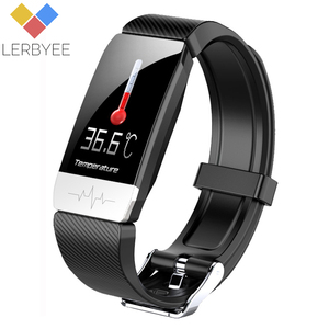 Image 1 - 2020 Fitness Tracker T1s EKG + PPG Körper Temperatur Wasserdicht Heart Rate Monitor Smart Band Wetter Prognose Smart Armband Sport