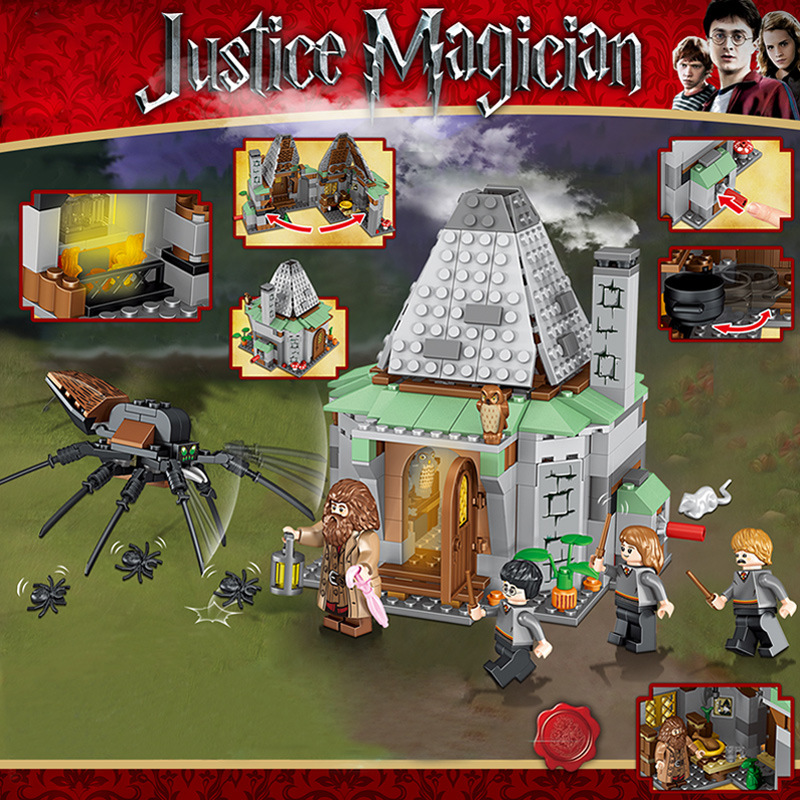 New Harri Potters Hagrid Cabin Around Porter Compatible Legolyss 75947 Technic Building Blocks Children's christmas Toy Gifts