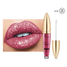 Pudaier sipped a Glitter Flip matte pearl lip gloss without a cup diamond lip gloss Wish pop
