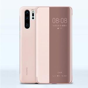 Image 4 - Huawei אותנטי אינטליגנטי מגן Flip מקרה עור כיסוי עבור Huawei P30 Huawei P30 פרו טלפון כיסוי