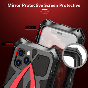 Image 5 - For iPhone 11 Pro XS Max XR Case,LUPHIE Metal Armor Rosdster Phone Case 360°All Round Coverage Protection Cool Travelling Cover