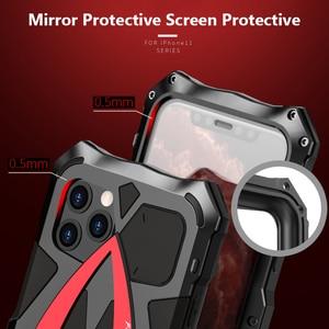 Image 5 - עבור iPhone 11 פרו XS Max XR מקרה, LUPHIE מתכת שריון Rosdster טלפון מקרה 360 ° כל עגול כיסוי הגנת נסיעה מגניב כיסוי