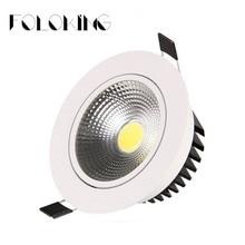 Светодиодный светильник для потолка COB 9 Вт 12 Вт 15 Вт 20 Вт 30 Вт 40 Вт Диммируемый COB Чип точечный свет Lampm утопленное Домашнее освещение AC85-265V