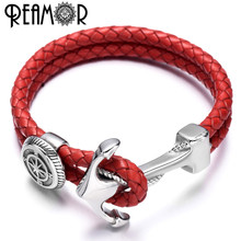 Bracelet Jewelry Compass-Shield Anchor-Connector Stainless-Steel REAMOR Bangles Bead
