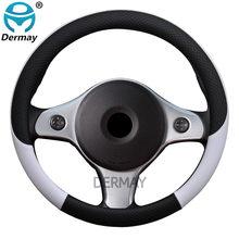 100% dermay marca capa de volante do carro de couro anti-deslizamento para alfa romeo 159 147 156 166 giulietta gt mito acessórios de automóvel