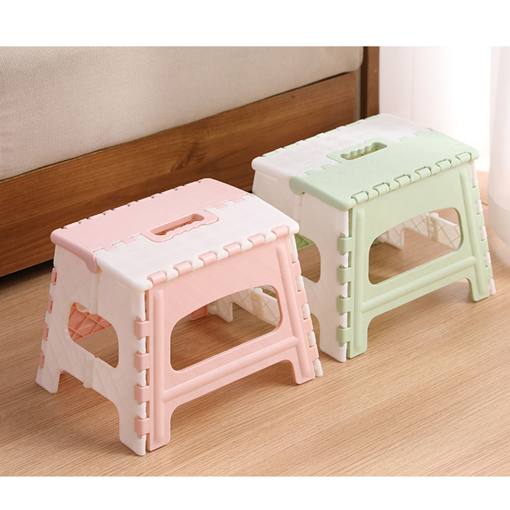 Portable Step Stool Plastic Collapsible Child Chair Non-sliping Shower Sitting Stool 1