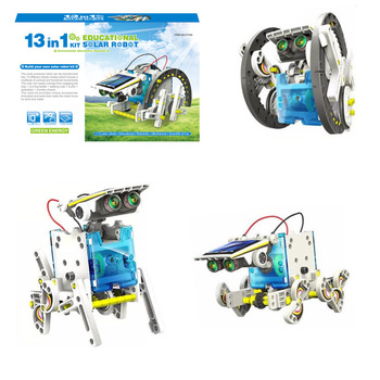 DIY environmental protection science and education self-assembled solar robot 13 in 1 assembly model puzzle enlightenment toy