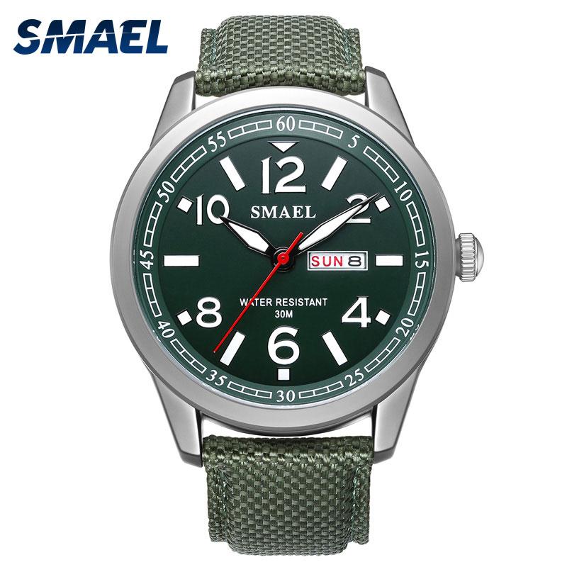 New SMAEL Men Watches Military 2018 Alloy Big Dial Sport Watch Waterproof Men Wristwatch Top Brand 1317 Digital Watch Bracelet