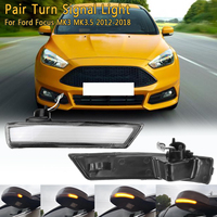 Dynamic Turn Signal Light LED Side Wing Rearview Mirror Sequential Indicator Blinker Lamp For Ford for Focus MK3 MK3.5 2012 2018