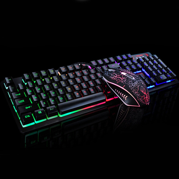 K13 Gaming keyboard Mouse Combo RGB Backlight Mechanical Felling keyboard Gamer kit Silent Gamer Mouse Set for PC Laptop 6