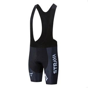 Image 3 - STRAVA Pro Team 2020 New Cycling 20D GEL Pad pantaloncini con bretelle MTB Quick Dry traspirante imbottito Sport abbigliamento da bici bicicletta LICRA