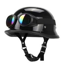 Motorcycle Helmet German Leather Vintage Casco Moto Motorcycle Open Face Retro H