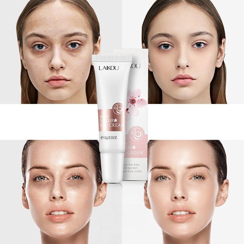 Göz kremi Sakura Serum kırışıklık karşıtı yaşlanma karşıtı koyu halkalar göz bakımı karşı şişlik ve çanta hidrat göz kremi 15g