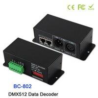 BC-802 DC5V-DC24V led DMX512 zu SPI(TTL) konverter decoder; Ausgang signal 6803/1809/8806/9813/3001/2801 DMX512 Daten Decoder