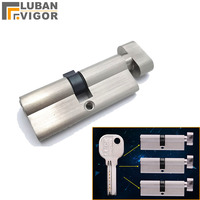 customized product,Door lock cylinder core ,7locks with 7 same keys,height 32mm,length 70mm,Interior door lock cylinder