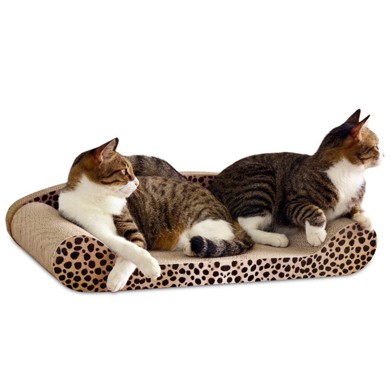 MTL Cat Scratching Pad Board Mat Corrugated Paper Cat Scratcher For Kitten Catnip Cats Pet Toy Game in Furniture Scratchers from Home Garden