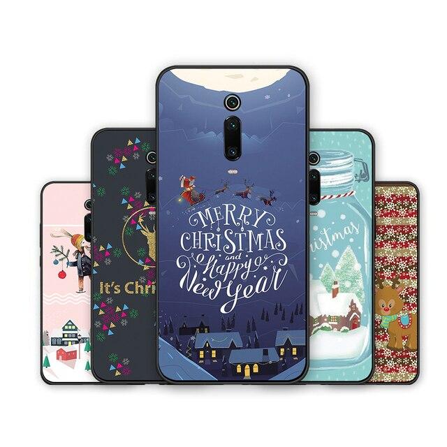 Redmi Note 7 S2 Merry Christmas Tree Bear Phone cases for Xiaomi Redmi 6A 5A 4A 4 5 6 7 Pro 5Plus GO Santa Claus soft tpu cover