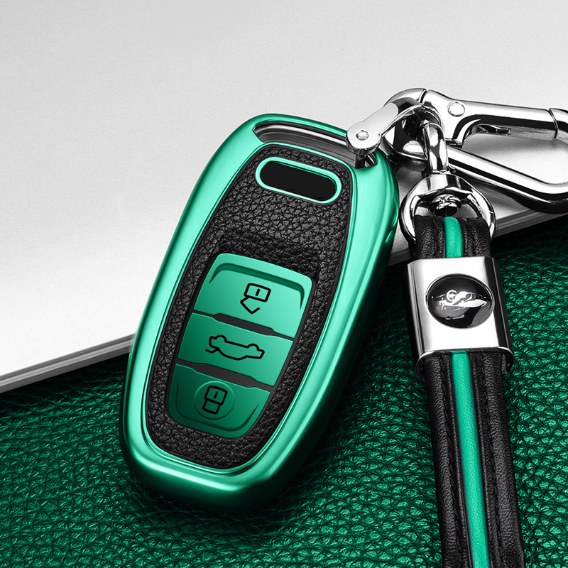 Новинка ТПУ Кожаный Автомобильный брелок для ключей чехол Защитный