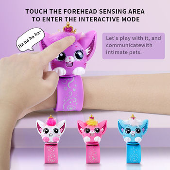 Hot Funny Kids Toys electronic Pet Intelligent Cat Hand Band Bracelet Interactive Dialogue Children Educational Toys Gift
