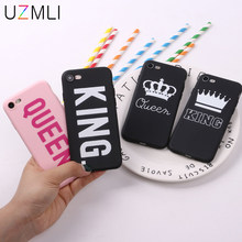 UZMLI Couple Boss Honey King Queen Matte Soft TPU Phone Case For iPhone 11 Pro XS Max XR X 8 7 6 6S Plus Cover Christmas Gifts(China)
