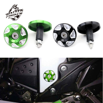 Frame Hole Cover For KAWASAKI Z800 2013-2016 Z750 2007-2009 Motorcycle Accessories Z 800 750 Carved Decorative Plug CNC MOTO maikai motorcycle accessories for kawasaki z750 z 750 2004 2012 cnc aluminum alloy widened pedals