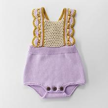 Wiosna jesień Boys Baby dziewczyny pajacyki ubrania dla dzieci pajacyki dzianiny szelki pajacyki niemowlę chłopcy dziewczęta odzież tanie tanio campure COTTON Drukuj O-neck Przycisk zadaszone Unisex Bez rękawów 82078 Pasuje prawda na wymiar weź swój normalny rozmiar
