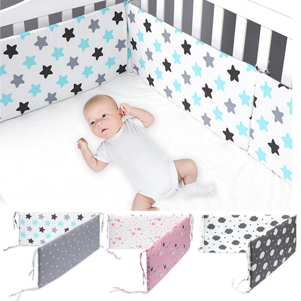 Kuulee Removable Washable Cartoon Printing Baby Safety Crib Bed Fence