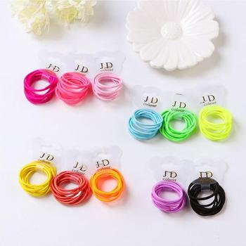 10Pcs Girls Colorful Nylon Small Elastic Hair Bands Children Ponytail Holder Scrunchie Headband Kids Baby Girl Hair Accessories 10pcs set new girls cute cartoon small elastic hair bands children sweet ponytail holder scrunchie headband kid hair accessories