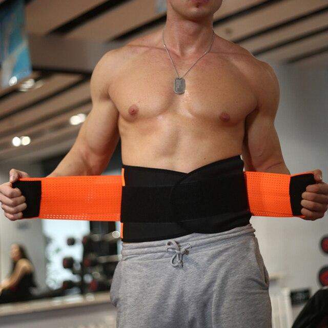 Women And Men Adjustable Elastic Waist Support Belt Neoprene Faja Lumbar Back Sweat Belt Fitness Belt Waist Trainer Heuptas 3