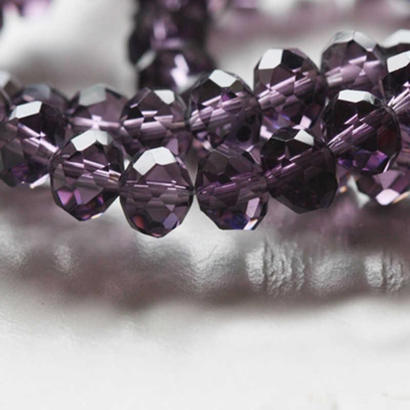 Stenya Grosir 6 Mm Manik-manik Kristal Rondelle Ragam Gelang Pernikahan Dekorasi Jahit Temuan Perhiasan Busur Simpul Headband Aksesoris