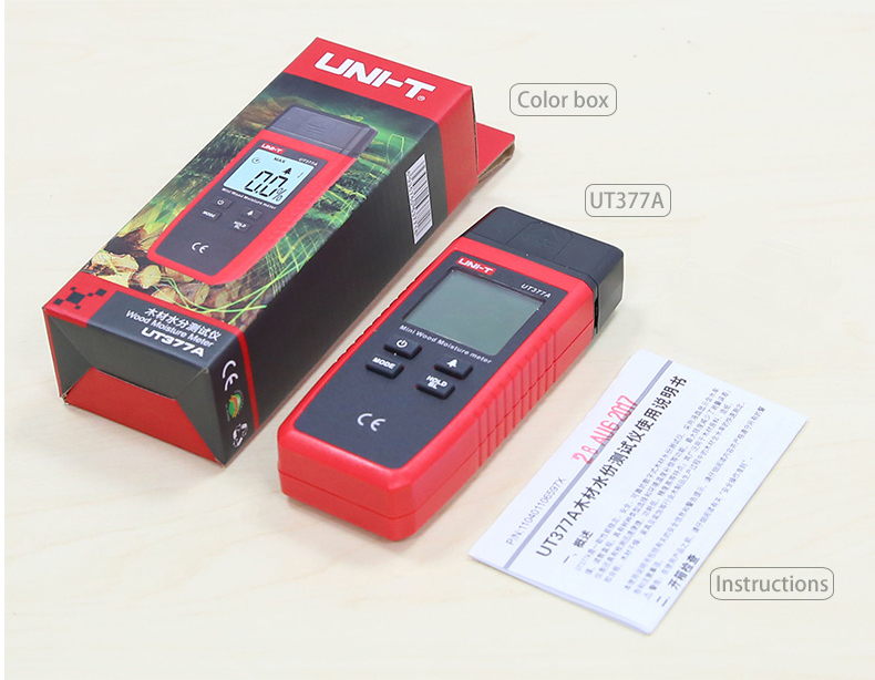 UNI T UT377A Digital Wood Moisture Meter Used as Humidity Tester for Paper Plywood and Wooden Materials 5