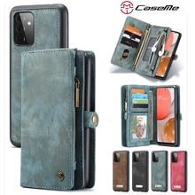 محفظة جلدية بطاقة الهاتف حالة لسامسونج غالاكسي A52 A72 A51 A71 A20 A30 A40 A50 A70 A20E A30S A50S المغناطيسي الغطاء الخلفي Etui