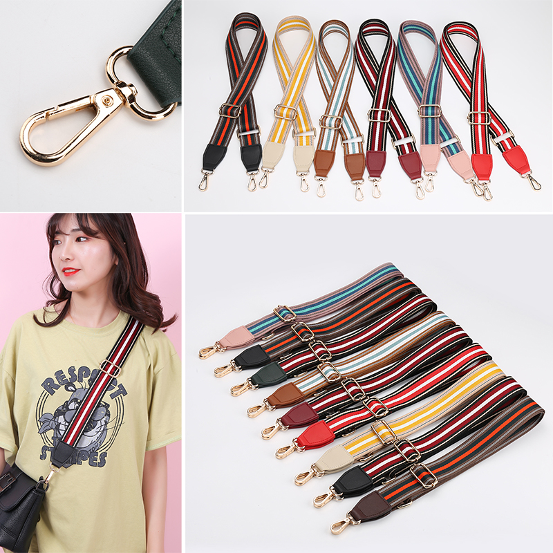 Luxury Wide Shoulder Straps Cross Bag Straps Crossbody Bags Ethnic Style Hit The Color Straps Accessories Belt Women Bags Straps