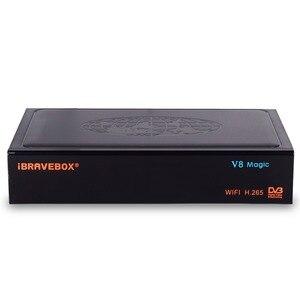 Image 3 - Ibravebox V8 Magic Satellietontvanger Digitale H.265 Dvb S2 Ingebouwde Wifi Receptor Azamerica Tv Tuner Cccam Iptv Tv wifi Ontvanger