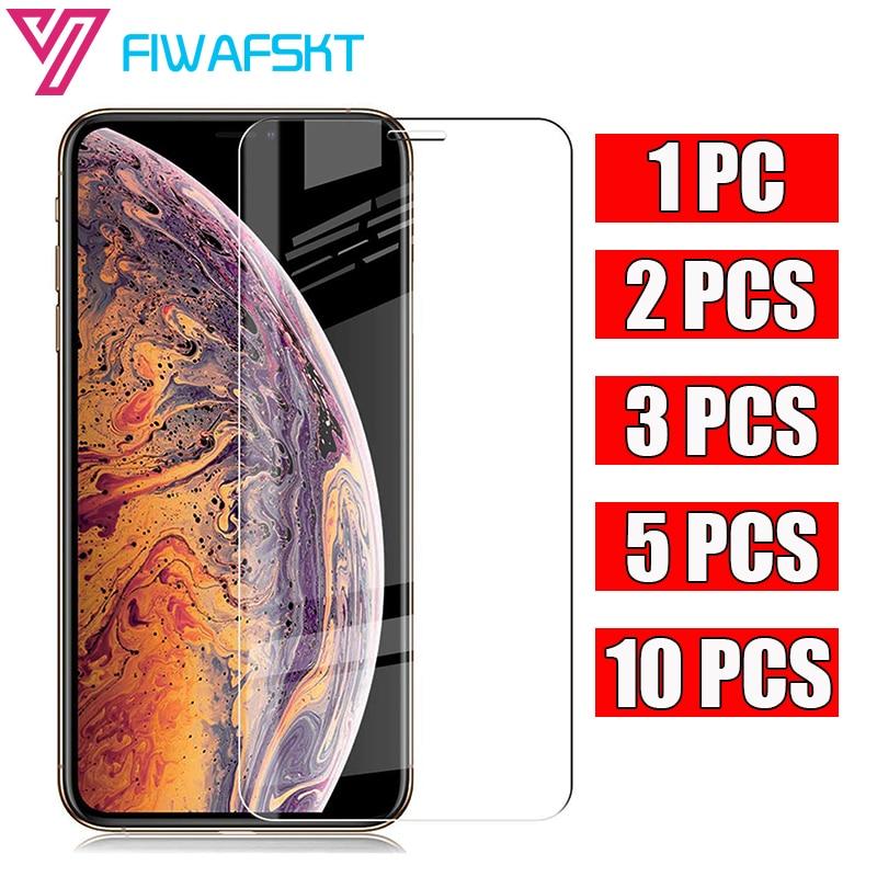 1 2 3 5 10 шт./лот закаленное стекло для iPhone 12 Mini X XS 11 Pro Max XR 7 8 SE 2020 Новинка 6 6s Plus 5 зеркальная защита экрана