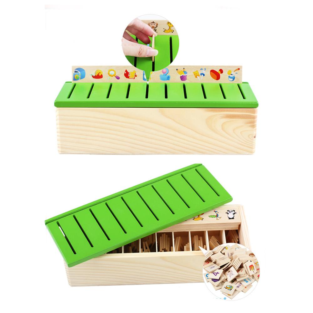 Mathematical Knowledge Classification Toys Wooden Cognitive Matching Box Wooden Toys Early Educational Toys Montessori Early Toy